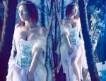 Ice queen in the forest by Stephanie-van-Rijn