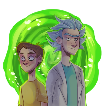 Rick and Morty by RaposaBoba