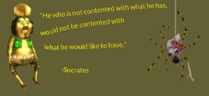 He who is not contented by what he has by scriptureofthescribe