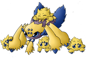 Cutest Spiders EVER -Coloured- by Rabid-Fangirl212