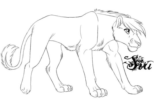 Lion lineart favourites by calamity15 on deviantart for Lioness coloring pages