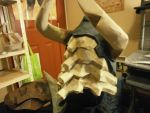 Dragonbone Helm Skyrim back view by PepaBurrr