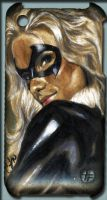 Black Cat iPhone case by gattadonna