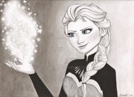Queen Elsa of Arendelle by Matilzie
