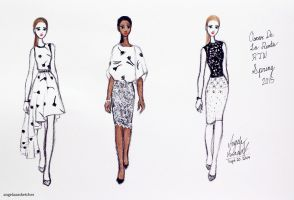 Quick Runway Sketches by angelaaasketches