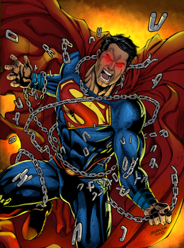 Superman Unchained Colors by Rick by rtterry3225