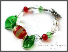 Christmas candy bracelet by Faeriedivine