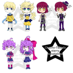 [OPEN] [6/6 available] Starry Adoptables by Chocho-Takeda