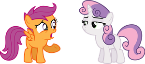 Sweetie Belle Blaming Scootaloo by illumnious