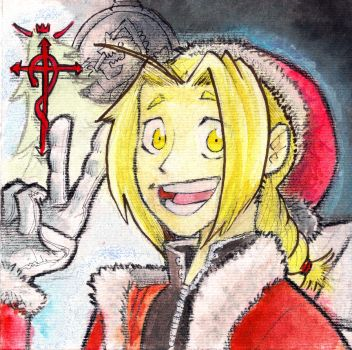 Edward Elric by AxelAquilasToons