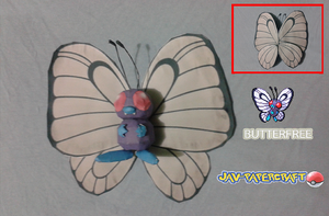 Butterfree Papercraft by jorgeescalante