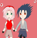Free Drawings #2 Sasuke and Sakura by ProjectANGEL101