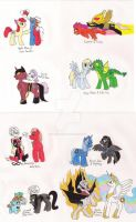 MLPFiM Batman Pairings 2 by 13foxywolf666