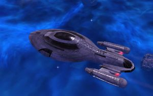 USS Icarus in the Azure Nebula by Majestic-MSFC