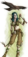 DS: Elf Female colored by willowWISP