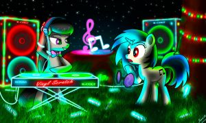 Vinyl Scratch and Octavia by SteiN-VS