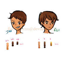 Ian and Eli Color Schemes by fire-inferno