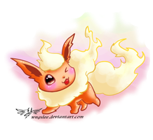 PKM - Flareon by Wingsie