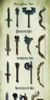 Weapon Concepts by Elderscroller