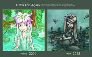 Draw this Again_Waterlilies by Crystal-Haze