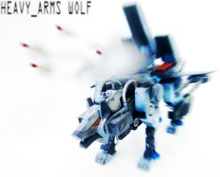 zoid custom - Heavy Arms Wolf by Juno-Uno