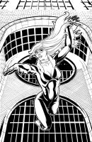 Black Cat inks by thelearningcurv