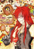 do not touch my candy XD Grell by meashim