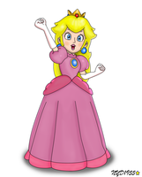 Princess Peach by NY-Disney-fan1955