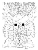COLORING BOOK - LEMONADE LAGOON MONSTER by laresistance