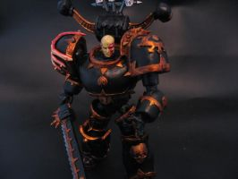 warhammer 40k chaos marine by soulbrother73