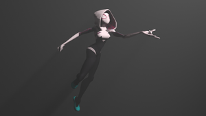 Spider Gwen for Xnalara (animated) by OutaDimes