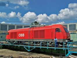 OEBB 2016 019-9 in the turntable in Budapest by morpheus880223