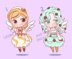ice cream adopts - mint choco, caramel $15 [OPEN] by poplarleaves