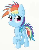 Filly Rainbow Dash by Conmankez