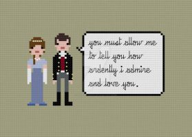 Quoteables - Lizzie and Darcy cross stitch pattern by avatarswish