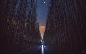Night road by manurs