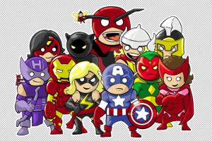 The Mighty Avengers by MARR-PHEOS