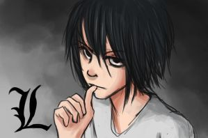 L fan art from Death note by Hamzilla15