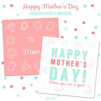 Mother's Day Greeting Card And Envelope Printable by MysticEmma