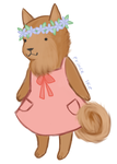 Finnish spitz with clothes by butt-prince-ike