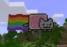 Nyan Cat - Minecraft by Nstone53
