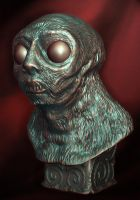 MORLOCK BUST by Caberwood