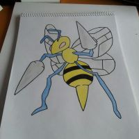 Beedrill Drawing by Krayzieee