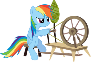 Rainbow dash hates chores by PLsim