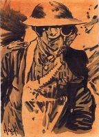 Cult Stuff WWI sketchcard 1 by RobertHack