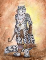Snow Leopard Archer by autumnjaguar