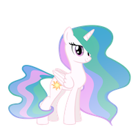 Mini Celestia (no background) by DarthLena