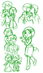 Nic and lily fluff doodles by TheLittlehoneybee