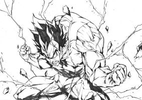 VEGETA POWER MODE from Dragon Ball by marvelmania