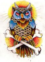 Old school owl by Baitti